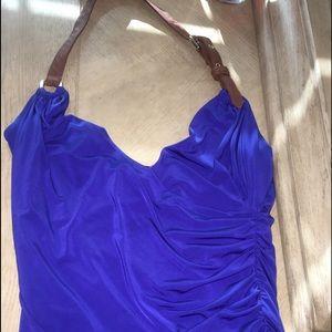 Baby Phat Blue Halter & White Maxi Skirt